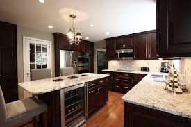 Glacier Cabinets Glacier White Granite Countertop Kitchen Contemporary With Ceiling
