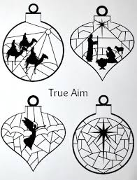 stained glass nativity ornaments printable true aim