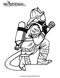 firefighter coloring pages getcoloringpages