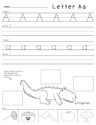 letter a worksheets for preschool formal letter template