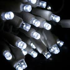 50 white 5mm led white wire