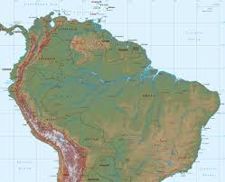 North And South America Map by South Of South America