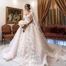 plus size gown wedding dresses luxury lace gown wedding dresses cap sleeves appliques arabic