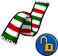 image candy cane scarf png club penguin wiki fandom powered