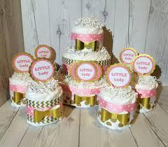 7pc little lady diaper cake centerpiece set baby shower centerpiece