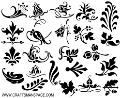 ornamental design elements vector free vector silhouettes