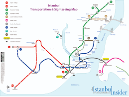 Map Of Istanbul Istanbul Transportation Map With Places Of Interest The Istanbul