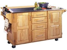 Wheeled Kitchen Islands Kitchen Island Wooden Rolling Kitchen Island With Stainless Steel