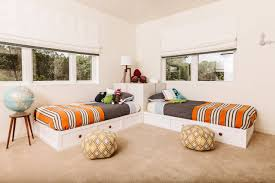 bedroom under bed storage ideas with window shades and modern