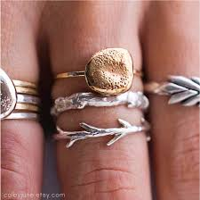 etsy jewelry rings images Sticks and stones ring set stacking rings nature inspired jpg