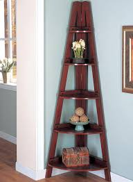 Corner Tables For Hallway Mahogany Finish Home Office Corner Shelf Bookcases