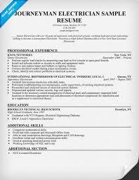 Electrical Supervisor Resume Sample Sample Resume For Electrical Technician Haadyaooverbayresort Com