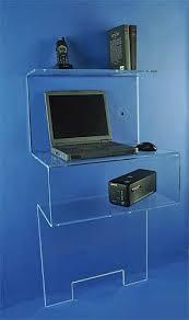 bureau plexi petit bureau design plexi bureaux pour tous