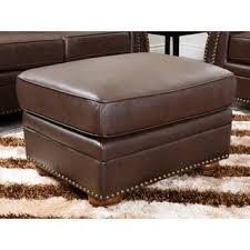 espresso brown bi cast leather storage ottoman free shipping