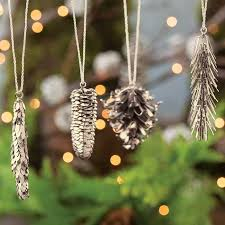 metal pinecone ornaments all gifts olive cocoa
