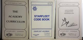 nx training manual vintage star trek starfleet academy training manual booklet set of