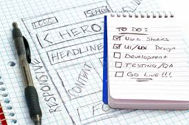 responsive web design sketch todo list stock illustration image