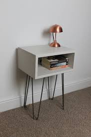industrial hairpin leg desk industrial bedside table painted with hairpin legs chattels