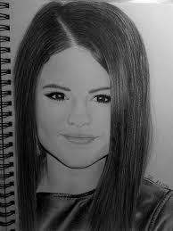 my drawing of selena gomez by teriiv on deviantart