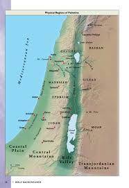 Map Writer Map Of The Physical Regions Of Palestine From Halley U0027s Bible