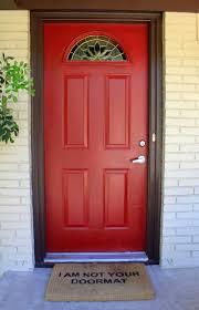 red front door as surprising door design for modern home amaza