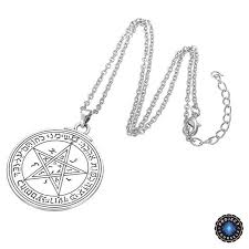 key love necklace images Silver love talisman key of solomon second and fourth pentacle of jpg