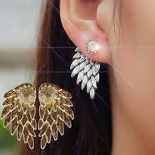 wing earrings sparkle angel wing earrings happytrunkapparel