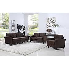 livingroom furniture set amazon com living room furniture set sofa seat