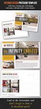 interior design postcard template v02 postcard template print