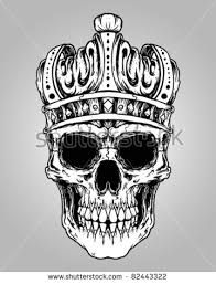 skull and crown stock images royalty free images vectors