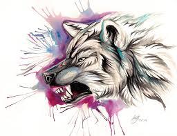 snarling wolf design by lucky978 on deviantart