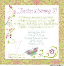 fifth birthday party invitation wording stephenanuno com