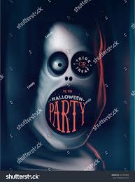 halloween party greeting card monster eps stock vector 322106984