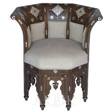 mediterranean levantine syrian furniture inlaid with mother of 33664 octagon chair hand carved and inlaid with mother of
