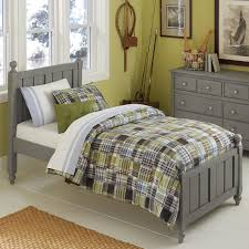 ne kids lake house twin panel bed with chamfered posts and ball