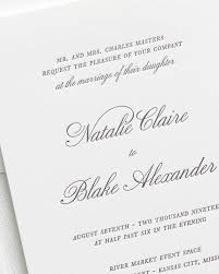 wedding invitations kansas city classic script letterpress wedding invitations letterpress