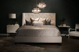 bernhardt interiors maxime upholstered wing bed mathis brothers