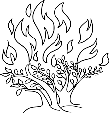 free stock photo of burning bush vector clipart public domain