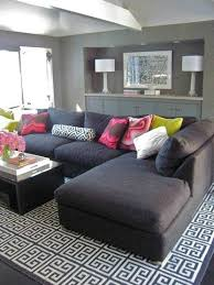 Family Room With Sectional Sofa Lounge Living Room Gray Sectional Sofa With Chaise Charcoal