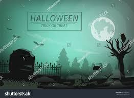 halloween graphic background halloween night graveyard zombie alive again stock vector