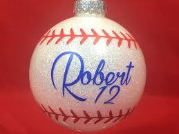 baseball ornament sportzcrazymama
