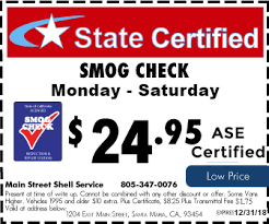 brake and light certificate main street shell service expert auto care and smog check in santa