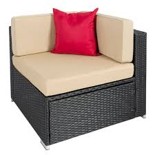Patio Furniture Sectional Seating - best choice products 7pc outdoor patio garden wicker furniture