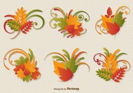 autumn leaves ornament vectors free vector stock