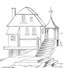 coloring page house printable coloring page of a house murderthestout
