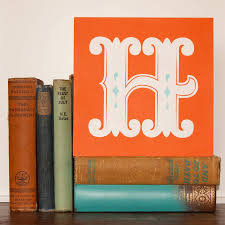letter g h or i screen printed wooden block by made by sophie