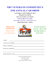 car show registration form 2 free templates in pdf word excel