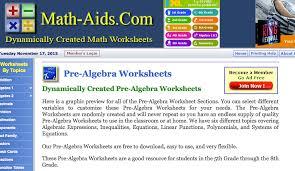 top 10 pre algebra worksheets student tutor blog