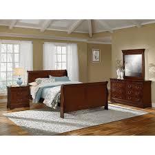 Ivy League Queen Bedroom Set Distressed Cherry Bedroom Set He827 Meridian Royal Panel Bedroom