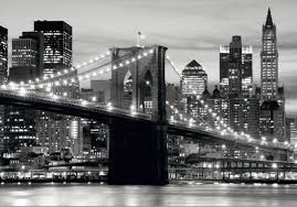 brooklyn bridge walkway wallpapers mural wallpaper brooklyn bridge black white new york photo 360 cm